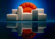 new york sunset, sofa, 1983  by gaetano pesce