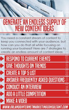 How to Generate an Endless Supply of New Content Ideas What To Write About, Social Media Digital Marketing, List Of Questions, Latest Business News, New Perspective, Internet Marketing, Infographics, Content, Entertaining