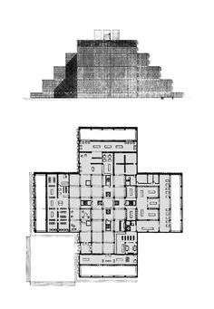 Louis Kahn |  Library of the Washington University, 1956, Unbuilt
