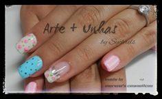 #unhas #nails #unhas decoradas #nailart #gel _ Morena's Cosméticos: English Breakfast
