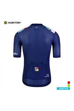 02a1c05d1 Buy Mens Summer Lightweight Cycling Top Cheap Blue and Orange