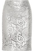 Moschino Cheap and Chic | Metallic cotton-blend lace pencil skirt | NET-A-PORTER.COM