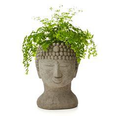 BUDDHA HEAD PLANTER   Garden Buddha; Weatherproof planter   UncommonGoods