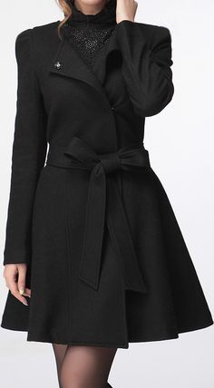 $28.62 Solid Color Modern Style Long Sleeves Worsted Coat For Women