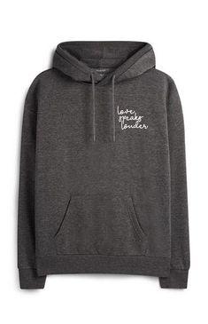 Grey Print Hoodie Primark, Cropped Hoodie, Black Hoodie, Jumpers For Women, Sweaters For Women, Stylish Hoodies, White Sleeveless Blouse, Evening Tops, Black Bikini Tops