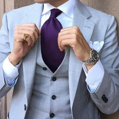 Good looking men's suits and ties #men's #suit