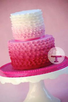 Image result for Ombre Ruffle Cake