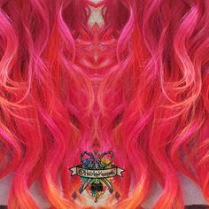 Hair art  my Poison Sunset #arcticfoxhaircolor #manicpanic #mermadians #hairbykaseyoh