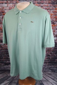 Lacoste Men's Polo Shirt Short Sleeve Light Green Size 8 XXL 2XL #Lacoste #PoloRugby
