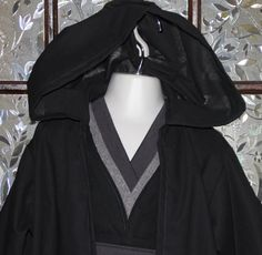 Toddler  or child Sith inspired costume,  dark Jedi, star wars, hooded robe, tunic, sash, black, grey, dress up, birthday, theme park, - pinned by pin4etsy.com