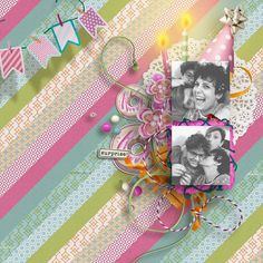 "New Planner Collection: ""My Birthday"" is a huge colorful collection to decorate your layouts with the pics you've taken during a party!"