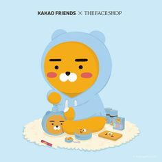 Pastel Wallpaper, Wallpaper Iphone Cute, Bts Wallpaper, Kakao Ryan, Cute Characters, Fictional Characters, Kakao Friends, Instagram Background, The Face Shop