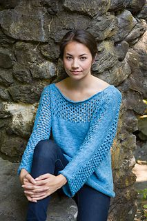 Free pattern on Ravelry Mesh Panel Pullover
