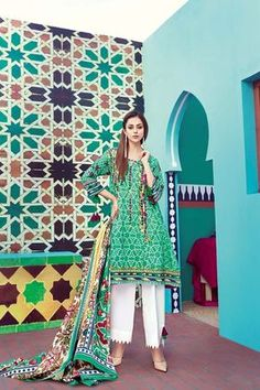 Gul Ahmed 2 Piece Summer Essential 2018 Custom Stitched Lawn Suit - TL-115 A