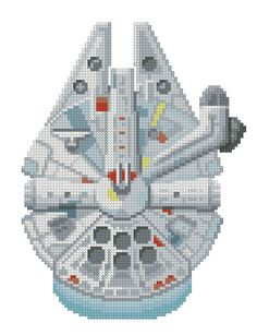 cross stitch pattern Millennium Falcon