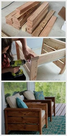 Diy furniture outdoor furniture outdoor modern outdoor chair from and ana white ana chair diyfurnituretables furniture modern outdoor white diy outdoor patio furniture ideas free plan picture instructions Diy Furniture Cheap, Diy Outdoor Furniture, Furniture Decor, Farmhouse Furniture, Rustic Furniture, Barbie Furniture, Modern Furniture, Deck Furniture, Antique Furniture