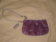 Coach Lurex Wristlet Plum Purple Silver #Coach #ShoulderBag