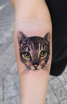 Cat Tattoo Savaş Doğan - Matkap Tattoo Istanbul Kadiköy www.facebook.com/savas.dogan.5… instagram.com/inktotalart www.matkaptattoo.com
