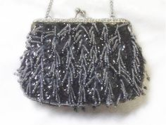 Blue Beaded Bag  Purse  Vintage 1950s to by EmbracingYesterday, $45.00