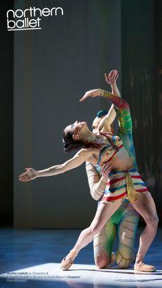 Northern Ballet dancers Martha Leebolt & Kenneth Tindall in Cleopatra. Photo Bill Cooper. northernballet.com/cleopatra
