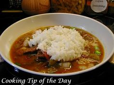 Cooking Tip of the Day: Recipe: Gumbo