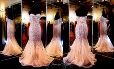 Pink Beaded Prom Dress-Strapless-Sheer Mermaid Skirt-Lace up Back-115JC0541100498 at Rsvp Prom and Pageant, Atlanta, GA