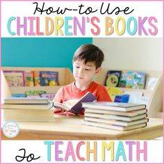 The ULTIMATE GUIDE to the BEST children's books for teaching math in primary! Includes a FREE printable book guide to the BEST math books for kids available!