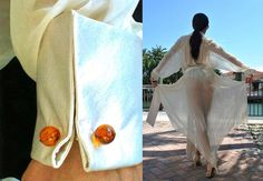 Silk Haute Couture Duster Handmade with a Raglan by EnzaMorrone