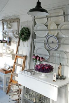 .drop table ...plate rack above