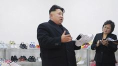 Kim Jong-un Did a Spot Check at a Sneaker Factory (Seriously)