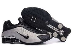 free shipping 51d96 93251 Nike Shox Hommes R4 Chaussures Grey (Gris) Black (Noir)