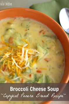 Broccoli Cheese Soup Recipe – Panera Bread Copycat Recipe One of my favorite soups is Broccoli Cheese Soup from Panera Bread. I love that it's so creamy & filling yet full of delicious broccoli, too! It's such a good comfort food on a cold day to have for lunch or dinner. Put it in a …