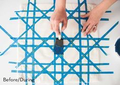 Weekend Project: Painted Cane Pillow DIY » Curbly   DIY Design Community