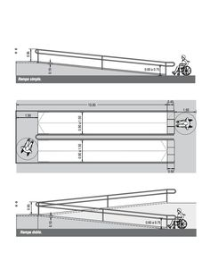 Image 3 of 10 from gallery of Universal Design and Accessibility Manuals from Latin America and Spain. via Capbauno (Colegio de Arquitectos de la Provincia de Buenos Aires) Ramp Design, Tool Design, House Design, Autocad, Architect Data, Detail Architecture, Design Guidelines, Parking Design, Sustainable Architecture