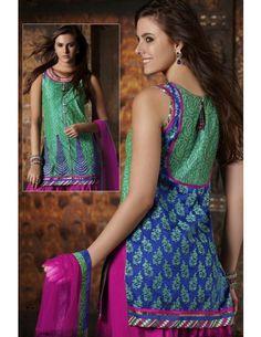 Eye-popping Festive Kameez http://www.bharatplaza.com/womens-wear/readymade-suits/bollywood-salwars.html