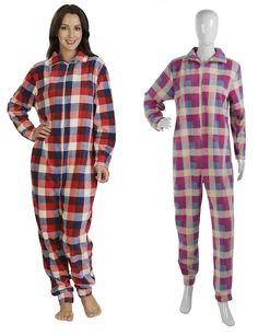 4d9ac2c276 Ladies Slenderella Check Design Footless Onesie (Pink or Red). Pajamas ...