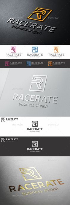 R Monogram Letter Logo  Racerate — Vector EPS #startup #consulting • Available here → https://graphicriver.net/item/r-monogram-letter-logo-racerate/10022796?ref=pxcr