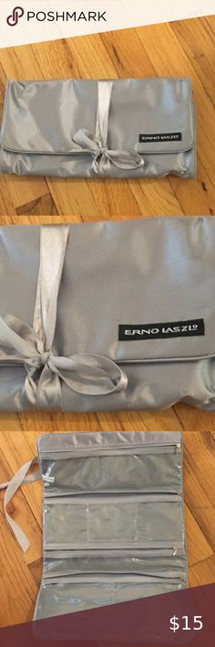 Reno Laszlo Travel Bag for jewelry or cosmetics. Nice satin covering with satin ribbon tie up. vinyl inside. All compartments are clear and zippered. Gently used Erno Laszlo Bags Travel Bags Erno Laszlo, Online Thrift Store, Travel Bags, Thrifting, Zipper, Cover, Jewelry, Travel Handbags, Jewlery