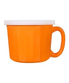 This Orange Ramekin Soup Mug & Lid is perfect! #zulilyfinds