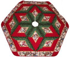 Christmas Tree Skirt Puppy Christmas by QuiltinWaYnE on Etsy, $180.00