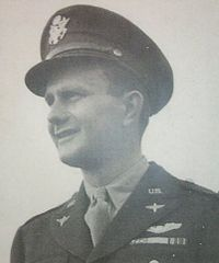 Major John Jerstad, US Army Air Corps - As Lt Col Baker's co-pilot, led a mission with his B-24 bomber in flames and damaged by German anti-aircraft guns. They maintained formation and bombed their target with devastating effect, then broke formation to avoid a mid-air collision with bombers arriving from the opposite direction. They attempted to gain altitude so the crew could parachute out, but the plane crashed and exploded, killing everyone aboard. August 1, 1943