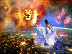 Lion Of Judah Bride Of Christ On Earth As It Is In Heaven Intimacy Digital Art - Spirit And Truth by Dolores Develde Christian Warrior, Christian Artist, Christian Girls, Tribe Of Judah, Bride Of Christ, Prophetic Art, Art Addiction, Lion Of Judah, Jesus Pictures