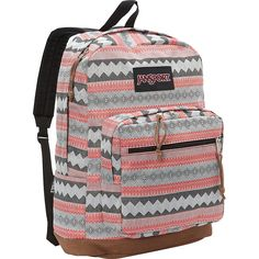Jansport Right Pack Laptop Backpack ($64) ❤ liked on Polyvore featuring bags, backpacks, red, red laptop bag, jansport daypack, red backpack, red bags and jansport