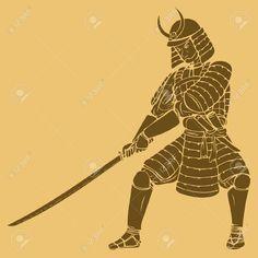 15323517-A-samurai-in-carved-style-illustration-Stock-Vector-samurai-japanese.jpg (1300×1300)