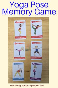 How to Play a Yoga Pose Memory Game - learn yoga poses, increase memory skills, and get exercise! Basic Yoga Poses, Cool Yoga Poses, Yoga Poses For Beginners, Yoga For Kids, Exercise For Kids, Yoga Kids, Learn Yoga, How To Do Yoga, Ashtanga Yoga Primary Series