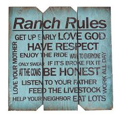 Boulder Innovations Ranch Rules Wall Decor