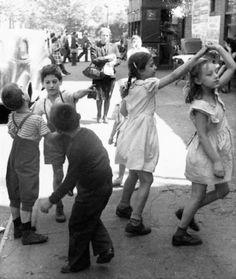 Girls Dancing above 96th Street near First Avenue circa 1940. Helen Levitt.