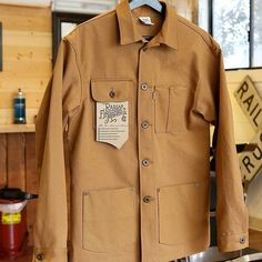 """164 Likes, 4 Comments - Mr. Ed Workwear (@mredworkwear) on Instagram: """"Soon available at Mr Ed Workwear in the Netherlands Railcar Chore Coat made in USA…"""""""