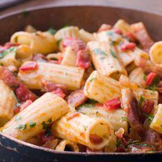 Slow-cooked Rigatoni