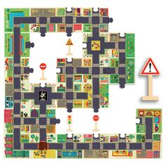 Puzzle City Djeco Children- A large selection of Toys and Hobbies on Smallable, the Family Concept Store - More than 600 brands. Puzzle Cube, Floor Puzzle, Puzzle Pieces, Preschool Puzzles, Puzzles For Toddlers, Toddler Preschool, Arty Toys, City Road, Crates